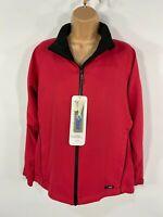 BNWT WOMENS PROQUIP RED AZALEA WATERPROOF WINDPROOF LIGHT GOLF JACKET COAT SMALL