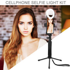 Portable Cellphone Selfie Stick Dimmable Adjustable LED Ring Light Living Stream