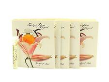 5 x Houbigant Quelques Fleurs L'Original EDP Vial Sample 2ml/0.06 fl oz & Card