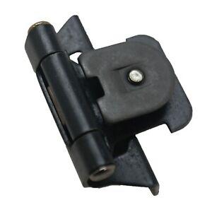 PAIR HICKORY Steel 1/4 Overlay Double Demountable Door Hinge Black Iron P5311-BI