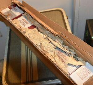 2 Vintage NOS Hall Mack CHROME Soap Holder Towel Rack 622 694 Industrial