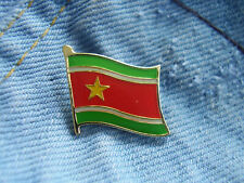 Pin Suriname Flagge Wappen Surinam Sranantongo Sranan Südamerika Paramaribo