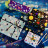 1 Sheet Space Planet Gift Wrapping Paper DIY Kids Birthday Present Packing Decor