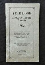 1934 Dekalb Comté Illinois An Livre Il Sycamore Sandwich Cortland Waterman