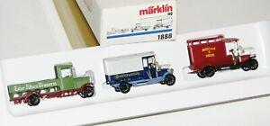 """Märklin H0 1888 Wagen-Set """"Oldtimer Lieferwagen"""" OVP AS20118"""