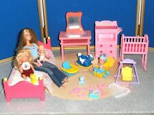 LOT OF BARBIE & BABIES & FURNITURE WITH MANY ACCESSORIES!
