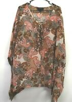 Lane Bryant Women's Plus Size 22/24 Lightweight Poncho Sheer Cover Up Shawl Top