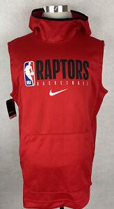 New Nike Team Issued Sleeveless Hoodie Toronto Raptors Size Large Tall LT