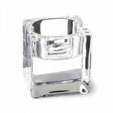 Bolsius 6 x moderno vetro trasparente quadrato cubo Portacandele tea light