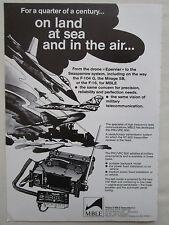 1/83 PUB MBLE PHILIPS EMETTEUR RT 600 PRC/VRC-600 ARMEE BELGE DRONE EPERVIER AD