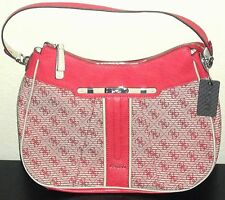 GUESS Adelisa Women's Hobo Shoulder Bag Purse New NWT Red All-Over G Logo