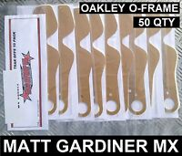 50 qty TEAR OFFS to fit OAKLEY O-FRAME MOTOCROSS MX GOGGLES