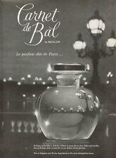 1959 Revillon Carnet de Bal Parfum from Paris PRINT AD