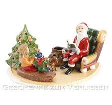 Villeroy & Boch Christmas Toys Santa mit Buch 25 cm für Kerze und Teelicht