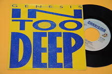 """GENESIS 7"""" 45(NO LP ) IN TOO DEEP-ORIG ITALY 1986 EX"""