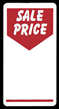 500 x Sale Price Self Adhesive Peelable|Removable Price Tags Labels Stickers