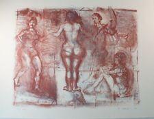Peter Zeiler erotische Radierung 74/100 handsigniert G-1409