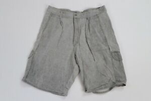 Vintage 90s Ocean Pacific Mens Size 32 Spell Out Distressed Pleated Cargo Shorts