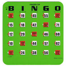 Easy Read Bingo Cards With Finger Tips, 10 Cards, Low Vision, Large Print, Thick