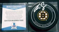 BECKETT COA F15205 REILLY SMITH SIGNED OFFICIAL GAME PUCK BOSTON BRUINS NHL