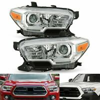 For 2016-2020 Toyota Tacoma SR/SR5 w/o DRL Chrome Projector Headlights Headlamps