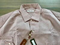 395$ Loro Piana Light Cherry Long Sleeve Cotton Shirt Size XXL Made in Italy