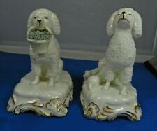 Vintage Staffordshire Style Spaniel Dogs Male Femalel Puppies Made in Italy