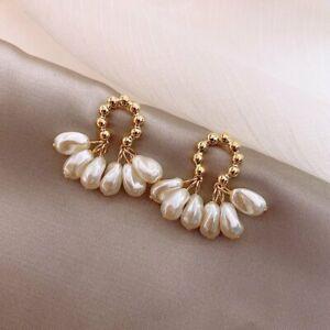 925 Silver Pearl Tassel Earrings Ear Stud Women Weddings Jewelry Gift Fashion