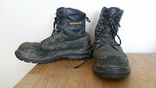 Caterpillar (Cat) Men's Well Used Black Steel Toe Safety Work Boots - UK 10