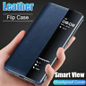 Window Smart View Luxury Phone Case For Huawei P30 Pro Flip Folio Leather Cover