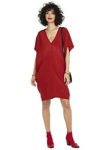 Hatch Maternity Women's THE SLOUCH DRESS Scarlet Red Size O/S (onesize) NEW