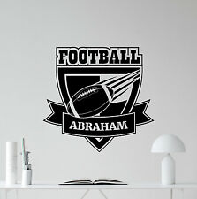 Personalized American Football Wall Decal Custom Name Vinyl Sticker Mural 76nnn