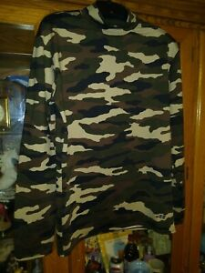 X L Boys Camo Long Sleeve Spandex Tee Shirt Control brand  bcg   NWOT