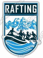 "Rafting  River Raft Mountain Whitewater Car Bumper Vinyl Sticker Decal 3.8""X5"""