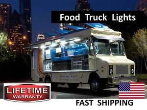 Stainless Steel Mobile Food Truck Lunch Vending Wagon LED Lighitng Kit
