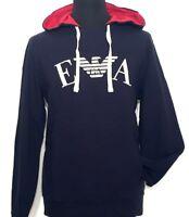 EMPORIO ARMANI Hoodie Kapuzen Shirt blau navy marine M XL Neu Etikett 135€!