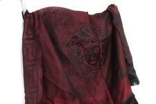✨❗️ NEW $475 Versace Wool Burgundy Medusa Sciarpa Scarf Large 30 x 78 Authentic