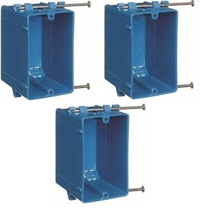 3 PACK New Work B120A 1-Gang 20 cu in PVC Outlet & Switch electrical box