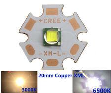 CREE XM-L T6 LED Bulb Chip 20MM Base 6500K White For 18650 Flashlight Headlamp