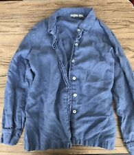 Chico's Size 2 Denim Button Up Shirt