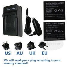 2pk Batterie + Chargeur pour Panasonic CGA-S005E Lumix DMC-FX100EF DMC-FX12 DMC-FX50