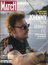 PARIS MATCH n°3612 02/08/2018  Johnny Hallyday_Jean Seberg_Migrants_Cathy Guetta