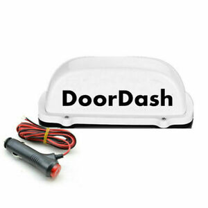 DoorDash Taxi Top Light LED Roof doordash Logo TOP light 12V wit 3M charger line