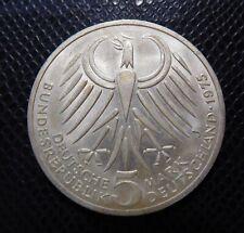GERMANY - BRD / SILVER 5 MARK / EBERT / 1975 J