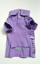 "RALPH LAUREN COTTON MESH purple  DOG POLO SHIRT OUTFIT (S/M) 7-9LBS ""Teddy"""