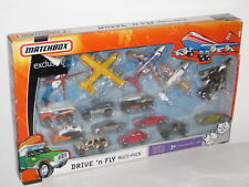 matchbox exclusive drive n fly multi pack 10 cars 5 skybusters OOP mint boxed