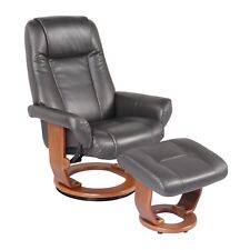 Starline Windsor Leather Swivel Chair Recliner & Ottoman Lounger