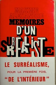 🌓 Maxime Alexandre Mémoires d'un surréaliste envoi autographe signé Lucie FAURE