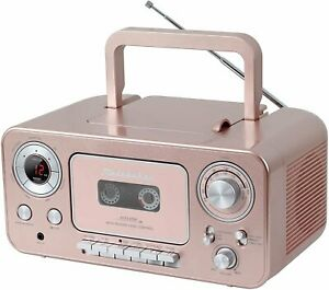 Studebaker SB2135RG Portable Stereo CD Player with AM/FM Radio and Cassette...