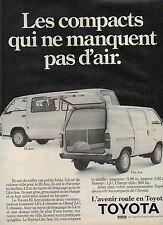 Publicité Advertising 1985  TOYOTA Hi Ace et Lite Ace  fourgon utilitaire
